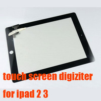 Wholesale Touch Screen digitizer for iPad Black white Touch Screen glass pannel for ipad
