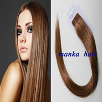 Wholesale pu skin weft tape remy human hair extension human hair inch pc pack x0 cm all cuticles in same direction top quality