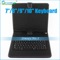 For Ipad 2/3 ainol keyboard case - Cheap Portable Keyboard Leather Case with standby suit for inch MID Sanei Ainol Pipo Cube Ramos A13 A20 Tablet PC