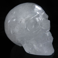 Wholesale 6 quot Natural Quartz Rock Carved Huge Crystal Skull Realistic Healing