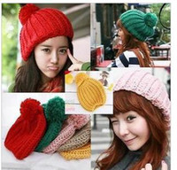 Wholesale 13 qiu dong han edition fashion cute top hat knitted hat