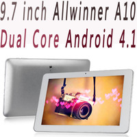 Wholesale Xmas Gift inch Ampe A90 IPS Capacitive Screen Android Tablet PC Dual Core Allwinner A10 RAM GB ROM GB WIFI by DHL