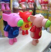 Wholesale Pieces Great Children s Gift Soft Foam Flying Fun Pig Popper Ball Shooter