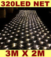 Wholesale Outdoor Garden Warm White LED Net Lights Holiday Event Christmas Xmas Wedding Decorations Party Lighting Fairy Lamps