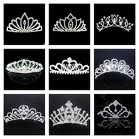 Crown Rhinestone/Crystal  2013 Fashion Silver Bridal Wedding Jewelry Set Crown Hair Accessories Upscale Pearl Plug Rhinestone Crystal Hair Comb Hair Clip