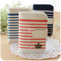 Wholesale zakka naval air card package for women lovely multi card bit Korean the canvas public transportation
