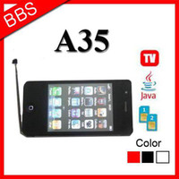 "Color Yes Bar 3.2"" unlocked Mobile phone i9 4S A35 with Dual SIM TV FM Java free shipping"