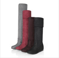 Wholesale New Product Supply Matte boots boots within the higher the heel snow boots women boots hzh588