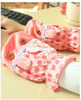Wholesale 10pair Cure plush Dot print rabbit style short oversleeve randomly color R741
