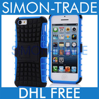 Wholesale 2 in Hybrid TPU Plastic Heavy Duty Durable Tradesman Robotic Case For iphone C iPhone5C Stand Cover Colors