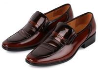 Wholesale NEW Fast fashionable Men s wedding shoes Mens Sexy shiny leather shoes Unique men shoes HM73