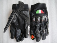 Wholesale new carbon fiber Short sections leather gloves motorcycle gloves