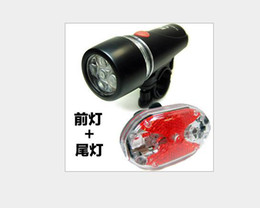 Wholesale Send free EMS_ MTB bicycle flashlight bicycle headlight led led taillight combination package with a lighthouse g
