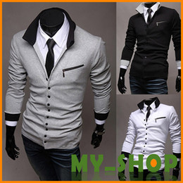 Wholesale 2013 NEW HOT Men s Slim Personalized hat Design Hoodies amp Sweatshirts Sweater Korean England cardigan sweater