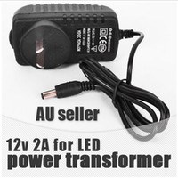 Wholesale EU US AU plug ac dc converter Transformer Input voltage AC TO V A Power Supply Adapter FOR LED Driver Lights Strips