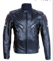 PU leather motorcycle racing jackets - Piece racer Brand motorcycle racing PU leather jackets with protection