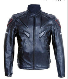 Wholesale Piece racer Brand motorcycle racing PU leather jackets with protection protection motorcycle jacket