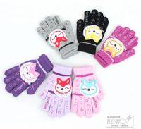 Wholesale c355 KoreanCute Cartoon Animal Of gloves Female Korean Autumn and winter Woolen Warm Full finger gloves Five Fingers Gloves pairs ST0002