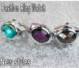 Fashion mini Stainless Steel ring finger watch shockproof antimagnetic womens Finger decorations table quartz watch mix order