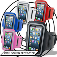 Wholesale Sports bag Running Gym reflective Armband case cover Pouch Belt for iphone S iPhone S HTC one Blackberry Samsung Galaxy S3 S4