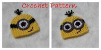Winter baby santa hat crochet pattern - Baby crochet owl hat caps children animal handmade hat Santa Hat Despicable Me Crochet Minion Hat CROCHET PATTERN Newborn Despicable Me in