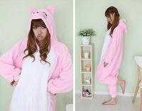 Wholesale Kigurumi Pajamas Lovely Cartoon Animal Onesies Sleepwears One piece Pyjama Animal Suits Cosplay Costumes Adult Garment Flannel