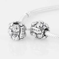 Wholesale Authentic ALE Sterling Silver Love amp Family Charm Bead Fits European Pandora Bead Bracelets