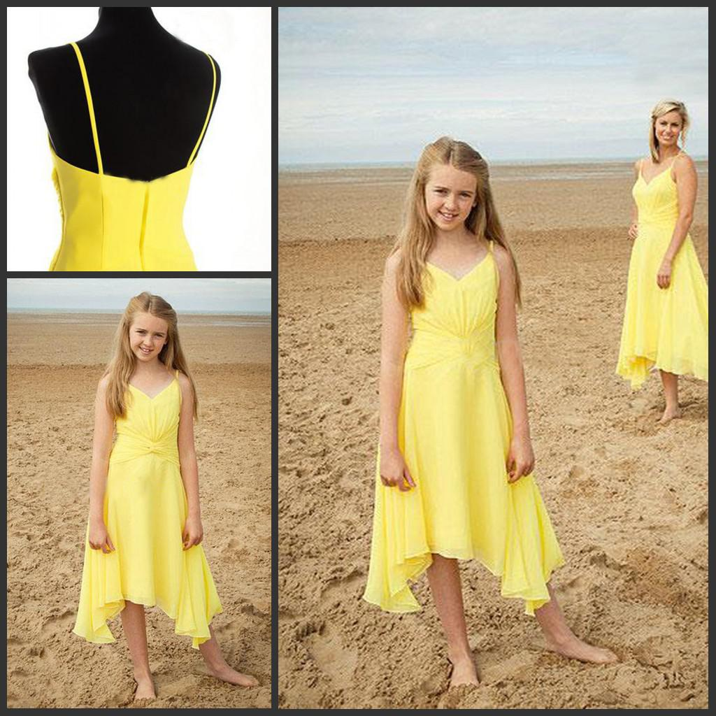 Lovely yellow junior bridesmaid dresses chiffon spagetti straps lovely yellow junior bridesmaid dresses chiffon spagetti straps party gowns junior bridesmaid dress yellow dress chiffon dress online with 8572piece on ombrellifo Image collections