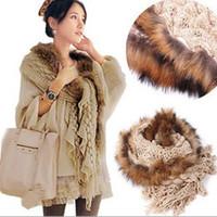 Wholesale raccoon fur Scarf Wraps Shawl Stole Ponchos shawls Scarves Neckerchief headband cm GIFT