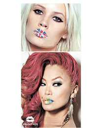 Wholesale Sexy nightclubs Queen violent lipstick party Glitter lips paste stickers