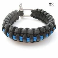 Wholesale Nylon Braided Parachute Cord Bracelet Survival Bracelet with Stainless Steel Shackle