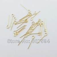 Wholesale ps brass Copper plating nickel and Gold colors mm earring findings ear pins Jewelry accessories B19