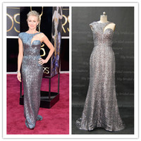 Wholesale 85th Academy Awards Naomi Watts Red Carpet Sequins Mermaid One Shoulder Cut Out Floor Length Celebrity Dresses Get One Free Pearl Necklace