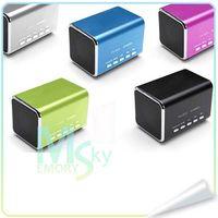 Revisiones Portable speaker for mp3 player-Music Angel MD05 portátil Mini altavoz MP3 Player Micro SD/TF USB ranura FM para iphone ipad tablet pc 000600