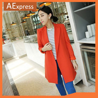 Wholesale New Arrival Autumn amp Winter Fashion Long Suit Jackets Plus Size Women Blazers XXXL Colors Hot Sale