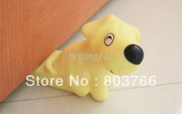 Baby Safe Doorways Animal Plastic 4pcs lot Lovely dog vinyl Door stopper Doorstop Ideal Plastic Cement For Household baby safe item 4 colors box packing