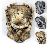 PVC alien predator mask - Film Alien vs Predator Mask Cosplay Mask Party Mask Halloween Mask Golden Color Silver Color