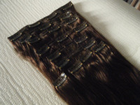 Wholesale 220g g quot quot quot thickest double layers clip in hair extensions Indian Remy human hair