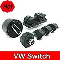 al por mayor interruptor de los faros de automóviles-Interruptor Interruptor de los faros auto OEM cromo + interruptor del espejo retrovisor lateral puerta ventana para VW CC / Tiguan / Passat / Golf / Jetta