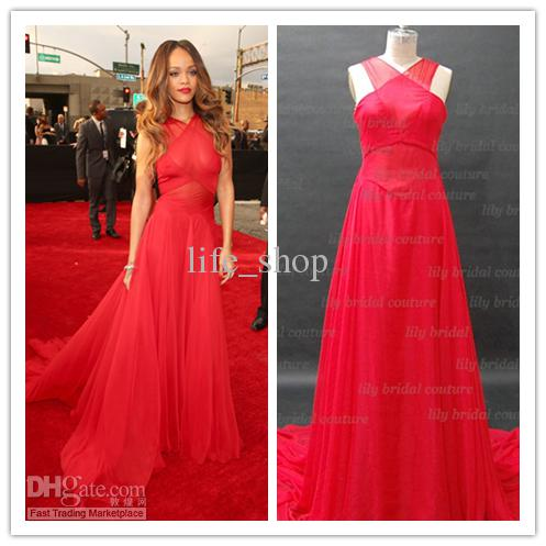 55th Grammy Rihanna Red Carpet