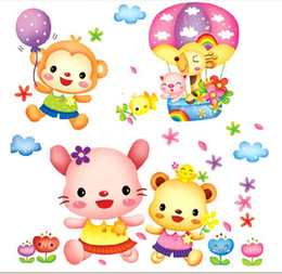 New Waterproof PVC Cartoon Wall Sticker Wall Mural for kids room Nursery Home Decoration free shipping