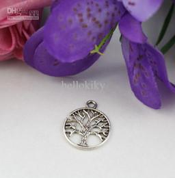 100 PCS Tibetan silver LIFE OF TREE Round Charms A12816