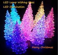 Wholesale Christmas Tree LED wishing trees Christmas decorations led lamp ornament illumination lotuslight lighting on sale