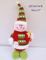 Wholesale Creative Santa scene decorations Santa Claus Snowman Elk Christmas decorations Scene Props Free EMS L
