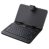 Wholesale 7 quot quot quot quot quot Keyboard Leather Case For Android Tablet PC Stand Case With Mini USB or USB Port