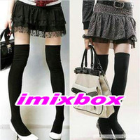 Wholesale Over The Knee Socks Thigh High Cotton Stockings Thinner Colors Black White Grey Bluefor Selection W3244