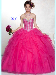 Wholesale 2013 New Style Sweetheart Ball Gown Sleeveless Floor lengthTulle Quinceanera Dresses With Beading and Aa Wrap