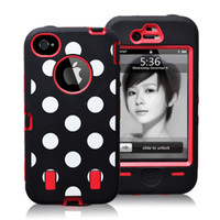 Polka Dot PC+ Silicone Defender shock dirty proof protector c...