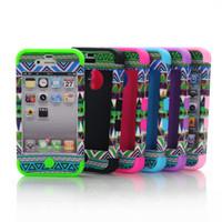 GREEN tribal 3 in 1 PC+ Silicone shock dirty proof case for I...