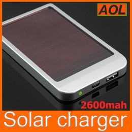 бесплатная доставка высокого качества полная мощность 2600mAh солнечные панели зарядное внешняя батарея для всех телефонов MP3 MP4 MP5 Солнечное зарядное устройство (Нет зарядное устройство) от Поставщики солнечная панель бесплатная доставка